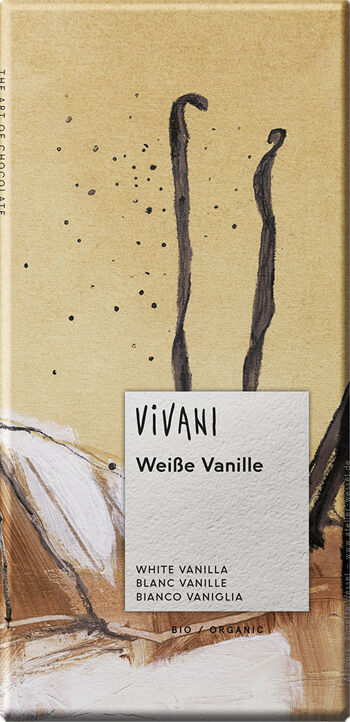 Bio bílá čokoláda s vanilkou VIVANI 80 g