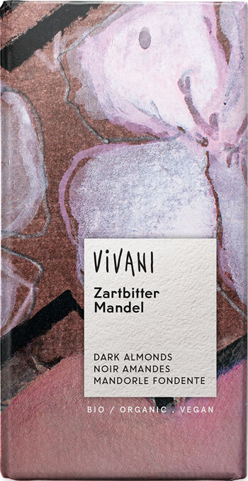 Bio hořká čokoláda s mandlemi VIVANI 100 g