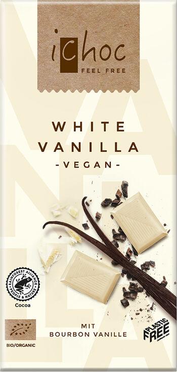Bio vegan bílá čokoláda s vanilkou iChoc 80 g