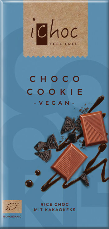 Bio vegan čokoláda cookie iChoc 80 g