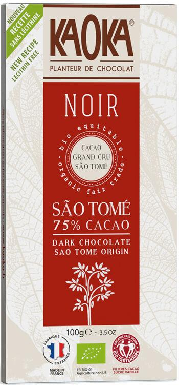 Bio hořká čokoláda 75% São Tomé KAOKA 100 g