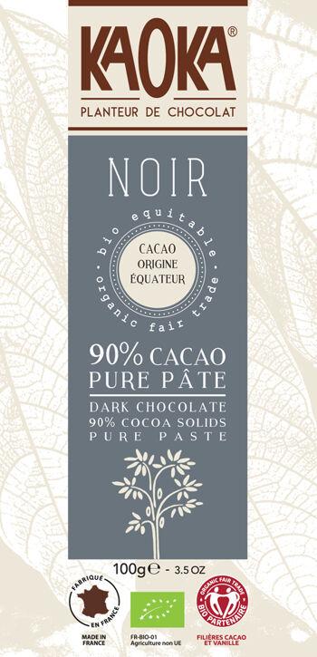 Bio hořká čokoláda 90% Ekvádor KAOKA 100 g