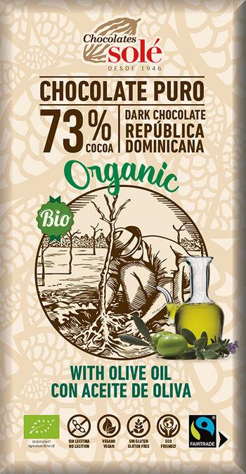 Bio hořká čokoláda s olivovým olejem SOLÉ 100 g
