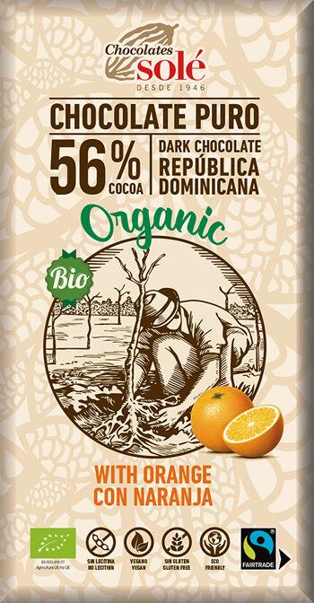 Bio hořká čokoláda pomerančová SOLÉ 100 g