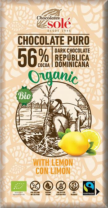 Bio hořká čokoláda citrónová SOLÉ 100 g