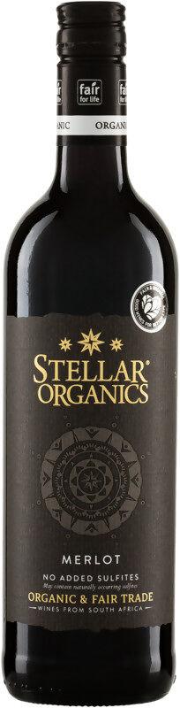 Bio Merlot nesířené červené Stellar Organics 0,75 l