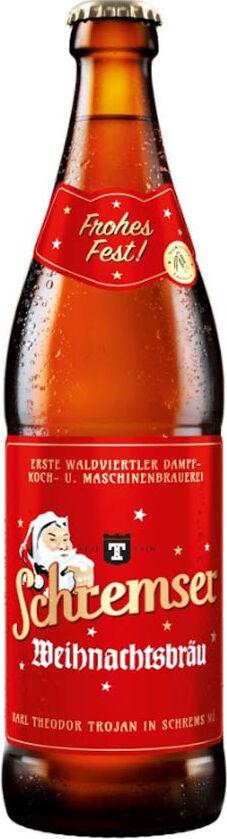 Vánoční pivo Bock SCHREMSER 500 ml