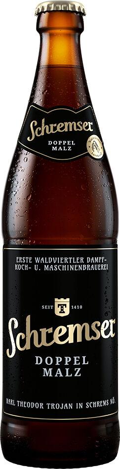 Pivo tmavé Doppelmalz SCHREMSER 500 ml