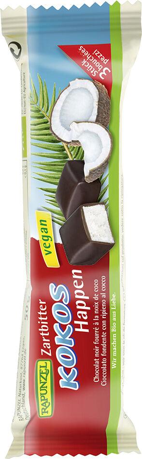 Bio kokos v hořké čokoládě RAPUNZEL 50 g
