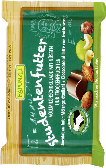 Bio mléčná čokoláda studentská směs RAPUNZEL 100 g