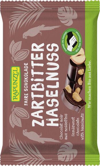 Bio hořká čokoláda s lískovými oříšky RAPUNZEL 100 g