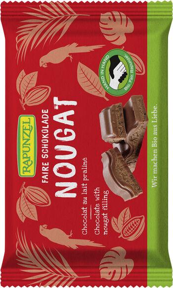 Bio mléčná čokoláda s nugátem RAPUNZEL 100 g