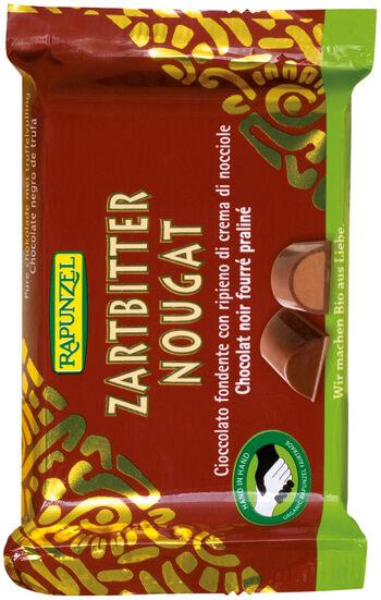 Bio hořká čokoláda s nugátem RAPUNZEL 100 g