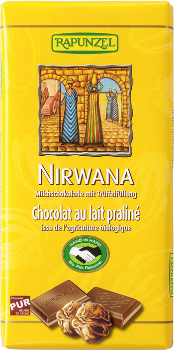 Bio čokoláda NIRWANA MLÉČNÁ RAPUNZEL 100 g