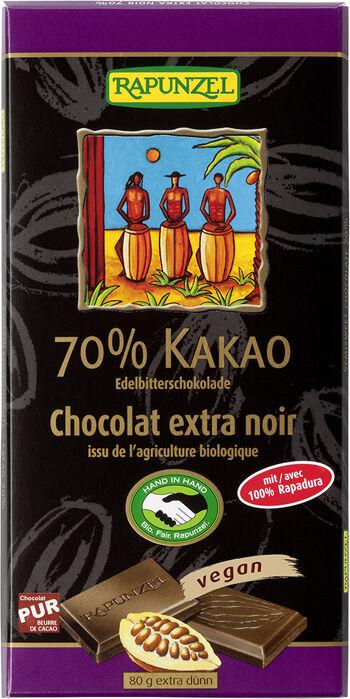 Bio hořká čokoláda 70% RAPUNZEL 80 g
