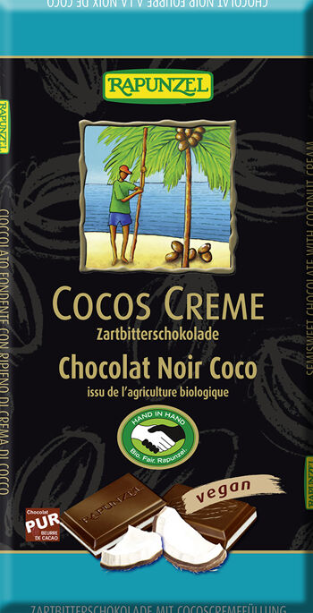 Bio hořká čokoláda KOKOS RAPUNZEL 100 g