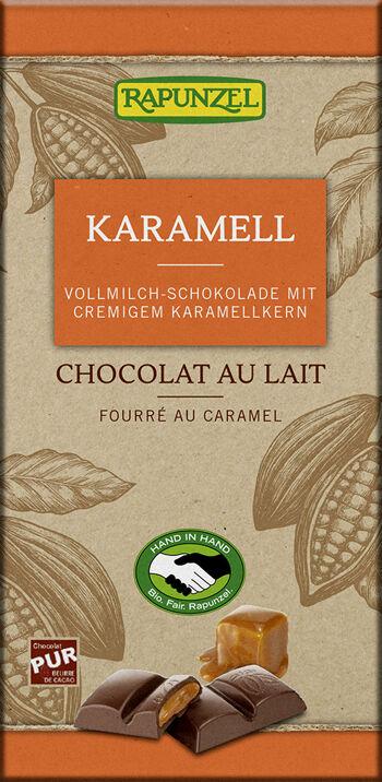 Bio mléčná čokoláda KARAMEL RAPUNZEL 100 g