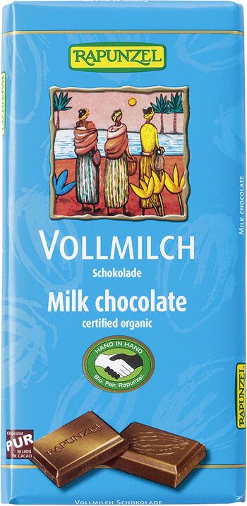 Bio mléčná čokoláda 38% RAPUNZEL 100 g