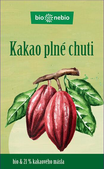 Bio kakao plné chuti bio*nebio 150 g