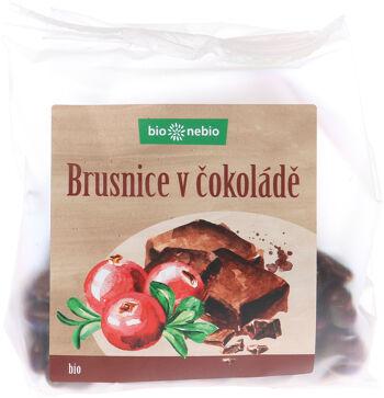 Bio brusnice klikva v hořké čokoládě bio*nebio 100 g