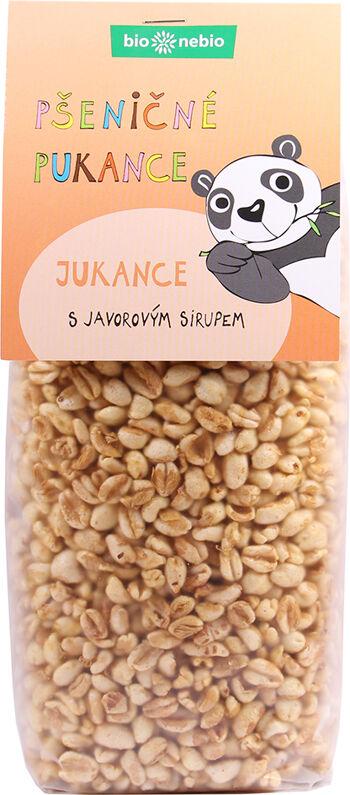 Bio Jukance: pšeničné pukance s javorovým sirupem bio*nebio 130 g